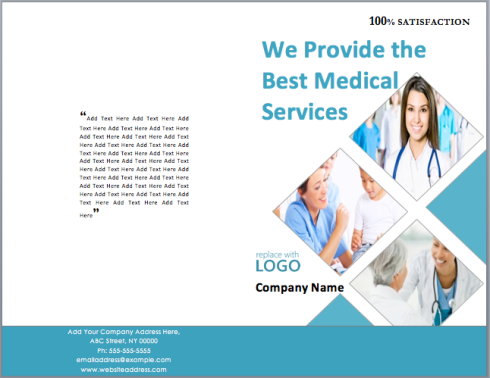 medical package brochure template