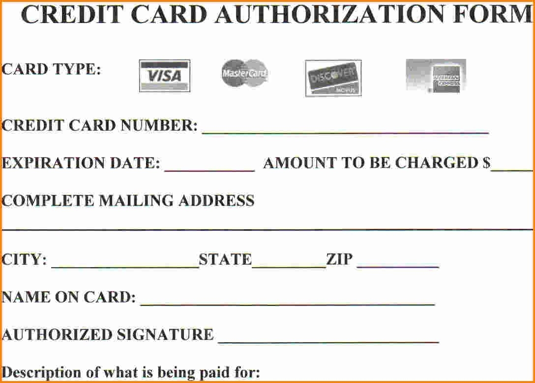 Are You at Risk by Not Using Credit Card Authorization Forms  A Inside Credit Card Template For Kids