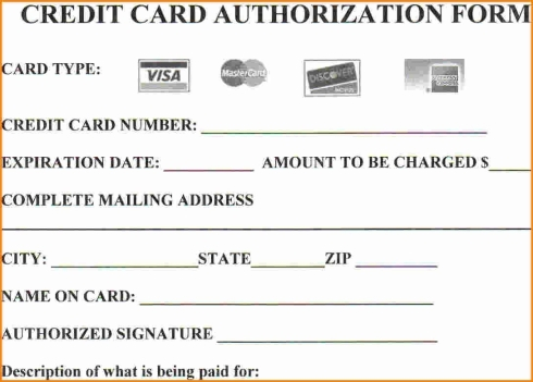 Are You at Risk by Not Using Credit Card Authorization Forms