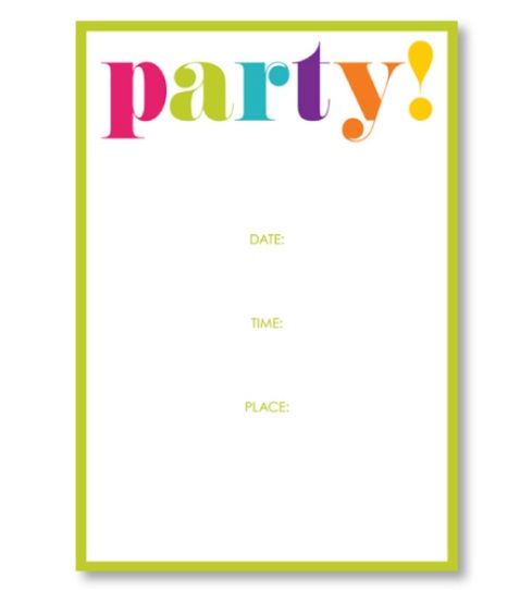 Party Invitations - Great for Theme Parties