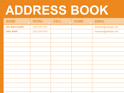 Maintaining an Up-to-Date Address Book
