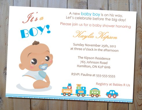 Unique Baby Shower Invitations