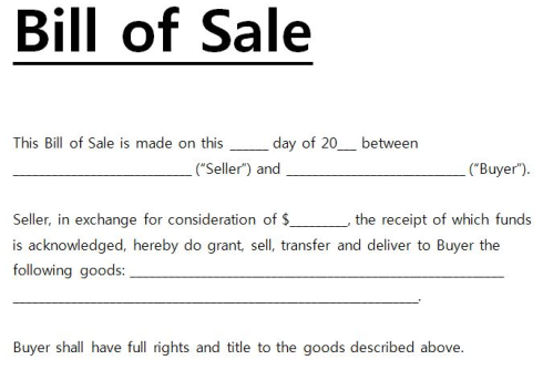 How to Prepare a Bill of Sale Properly
