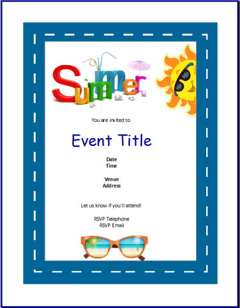 Summer Invitation Template