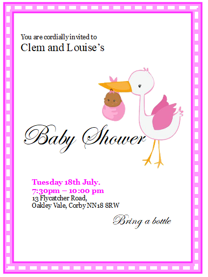 baby shower invitation template 2