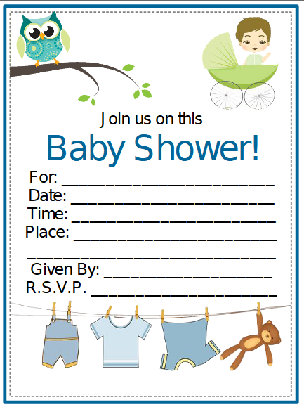 baby shower invitation template 3