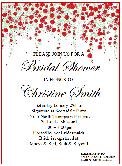 Bridal Shower Invitation Template 01