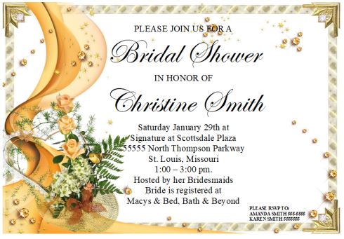 Bridal Shower Invitation Template 02