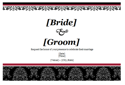 Wedding Program Card Template
